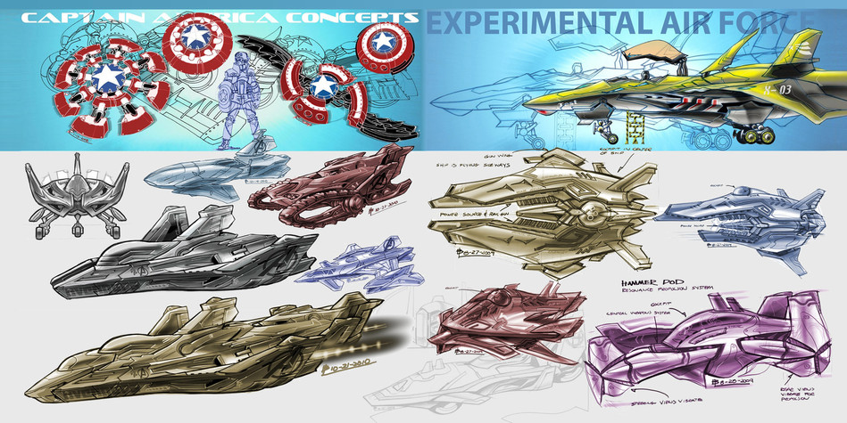 Captain America, Thor, and other Concepts