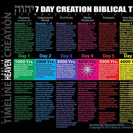7 Day Creation Genesis Timeline