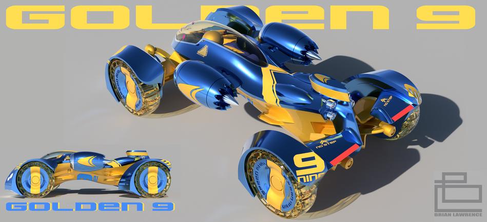 Golden 9 Race Car Concept