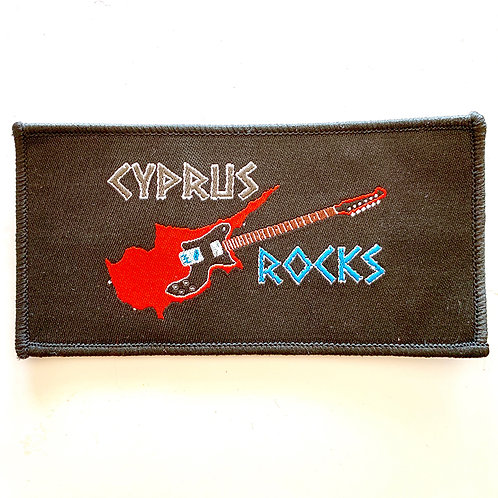 WOVEN CYPRUS ROCKS PATCH