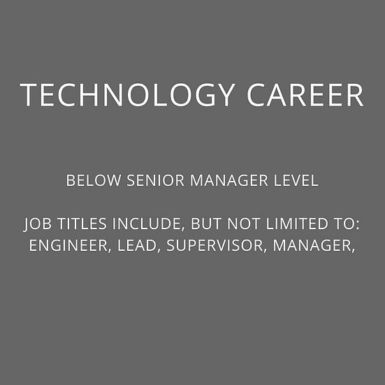 TECH - Below Senior Manager Level