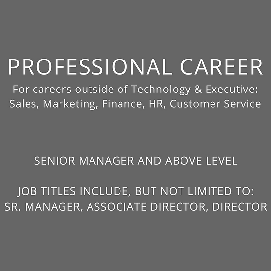 PROFESSIONAL - Sr. Manager and Above