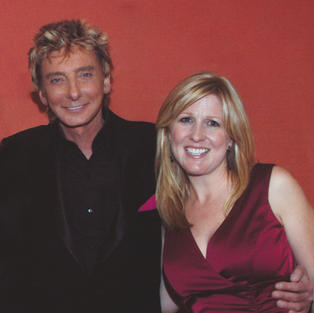Karyn with Barry Manilow on the Broadway National Tour of BARRY MANILOW's COPACABANA