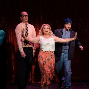 Karyn as Vickie in San Diego Music Theatre's production THE FULL MONTY