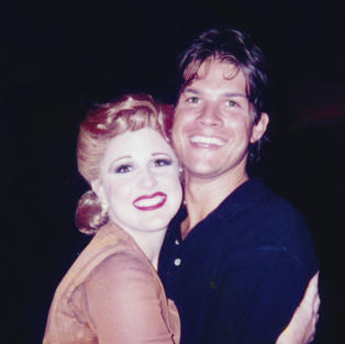 Karyn as Eva Peron in Theatre By The Sea's Production of EVITA  Matunick, RI with Stephen Oremus