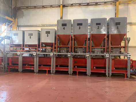 Autopak install automated feed system for Intocast