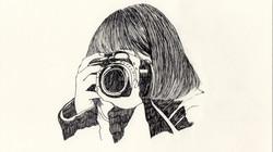 カメラを構える
