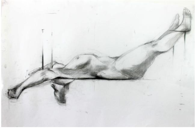 Suspended figure study