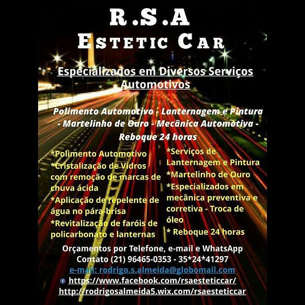 Polimento automotivo, revitalização de pintura, martelinho de ouro, mecanica, pintura de carro, guincho, reboque, socorro, polimento, cristalização de vidros, rsa estetic car