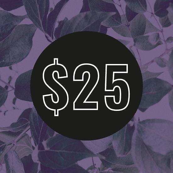 $25 Customisation