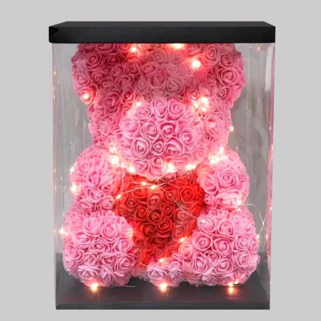 Floral Foam Teddy with LED