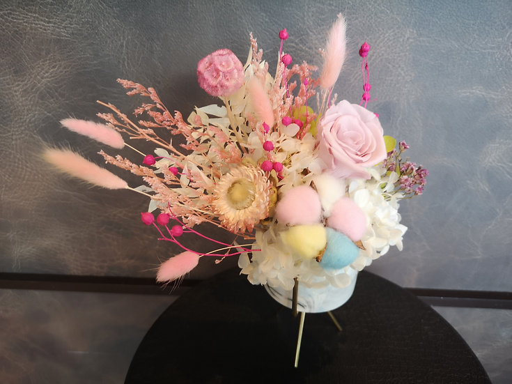 Preserved Table Posy - Pink Bliss