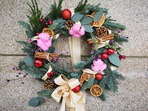 Fresh Festive Wreath (Red Themed)