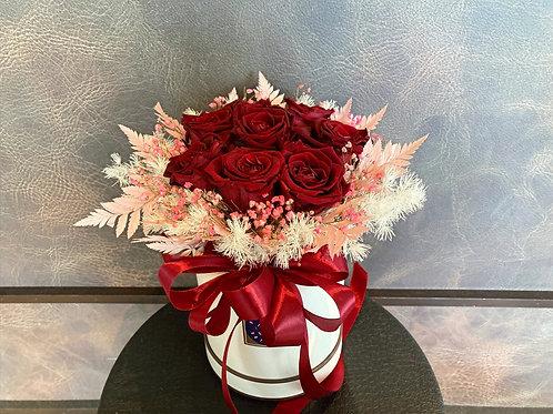 Preserved Rosy Bloom Box