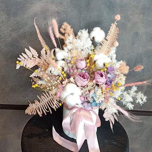 Preserved Floral Pot - Elegant Pink