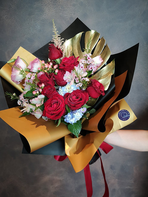 Red Golden Posy
