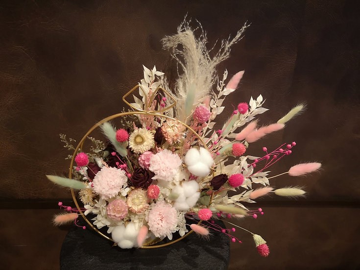 Preserved Floral Circular Bliss