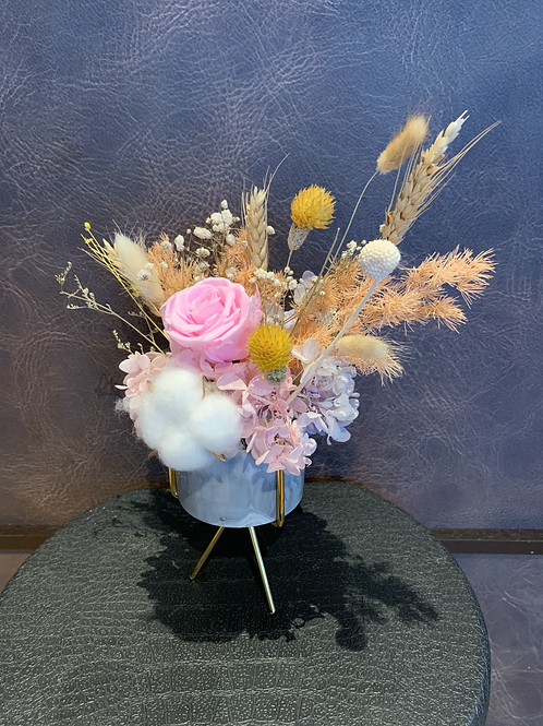 Preserved Table Posy - Pink Innocence