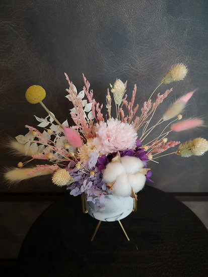 Preserved Table Posy - Carnation Bliss