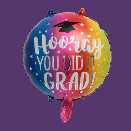 Hooray Grad Helium Balloon Add On