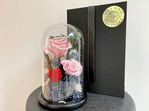Preserved Pinky Rose Dome