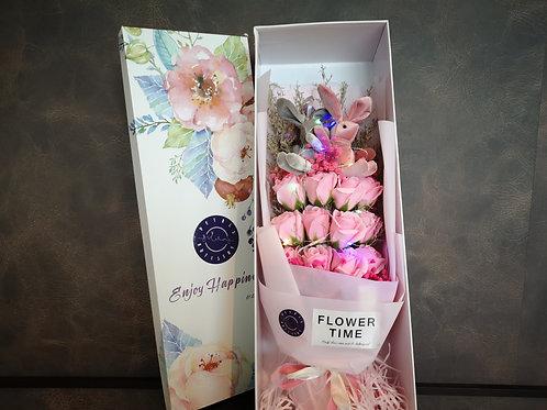 Pink Roses Gift Box