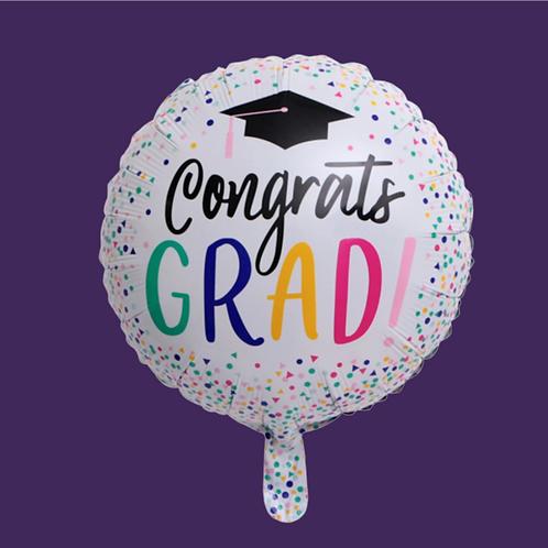 Graduation (White) Helium Balloon Add On