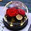 Thumbnail: Preserved Floral Small Globe - Red Gold Passion