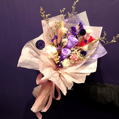 Preserved Lilac Roses Posy