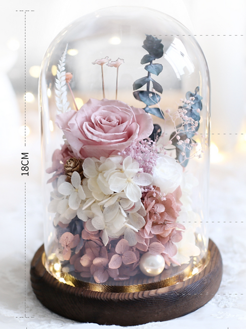 Preserved Floral Dome -  Autumn Fantasy