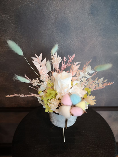 Preserved Table Posy - Cool Pastel