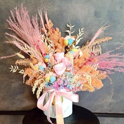 Preserved Floral Pot - Pastel Grande