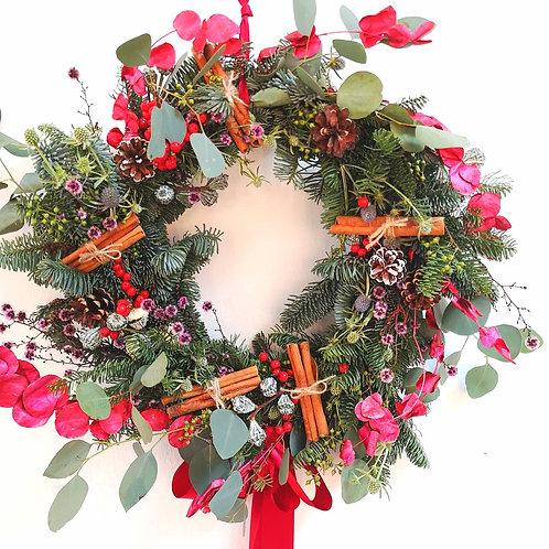 Fresh Nobilis Wreath - Red