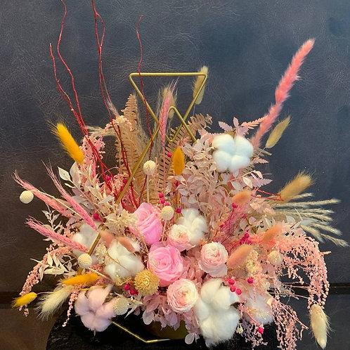 Preserved Pink Fantasy Centrepiece