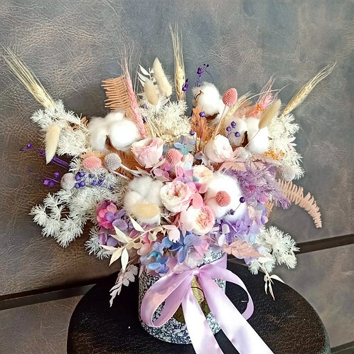 Preserved Floral Pot - Lilac Fantasy