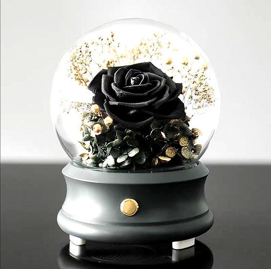 Exclusive Black Rose Blue Tooth Speaker Globe