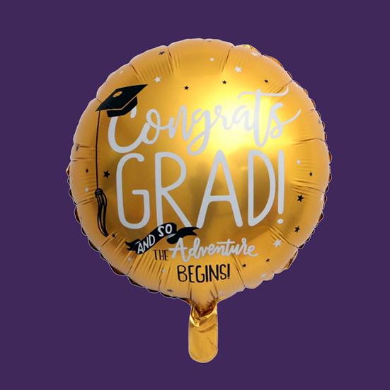 Graduation (Gold) Helium Balloon Add On