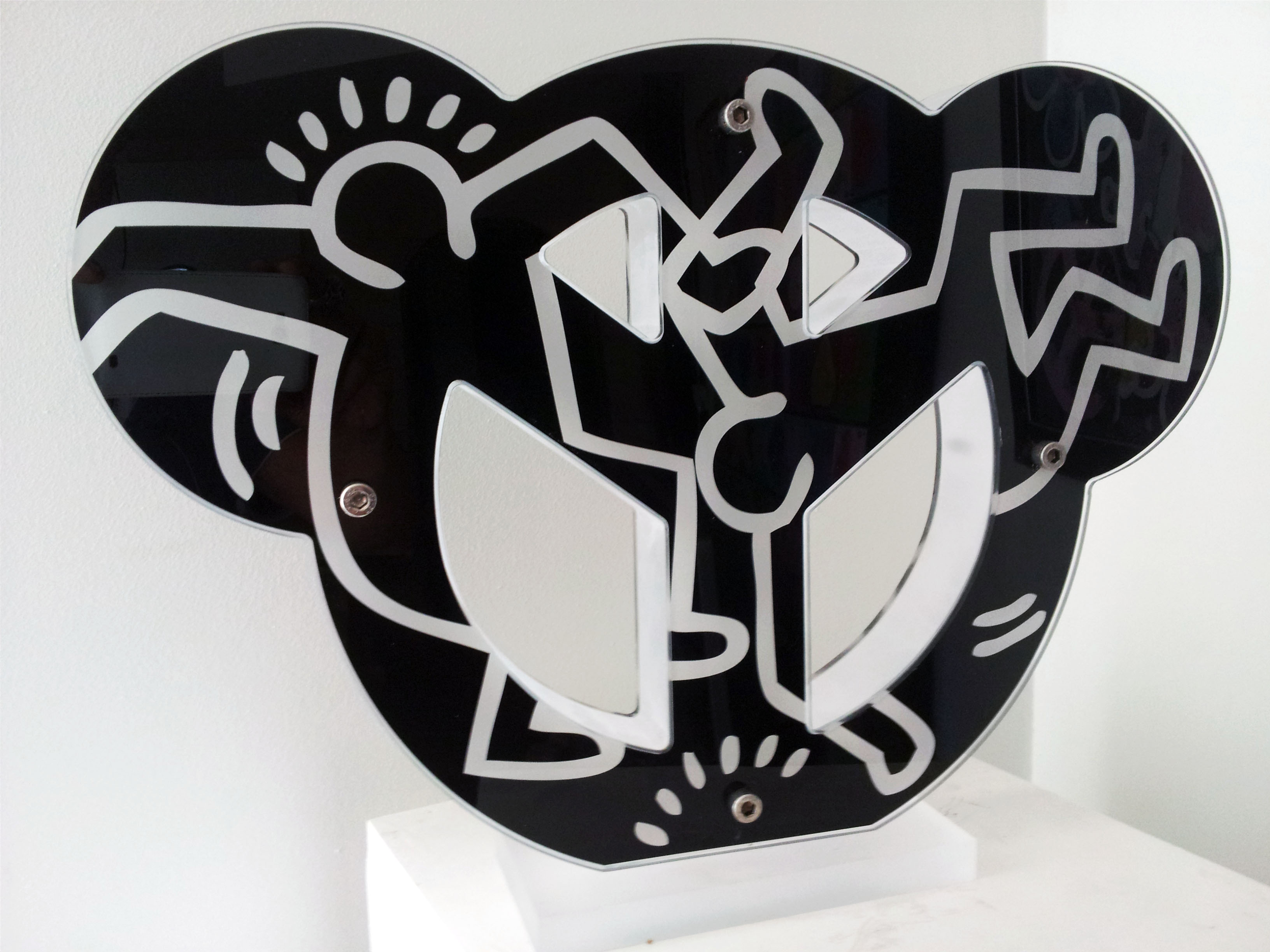 Hommage Keith Haring Black - 35x50cm