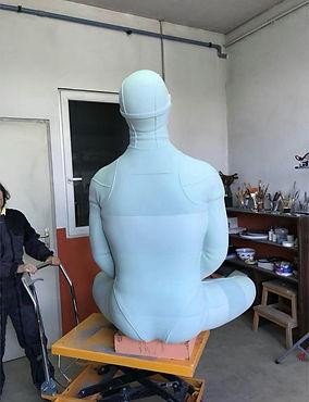 Sculpture apnéiste boudha