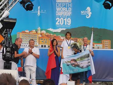 Scultpure mer, Championnat du monde d'apnée 2019