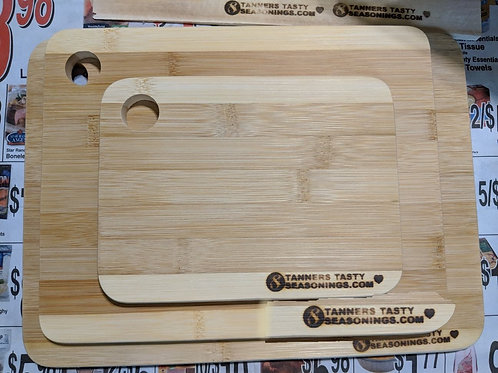 Set of 3 branded bamboo cutting boards