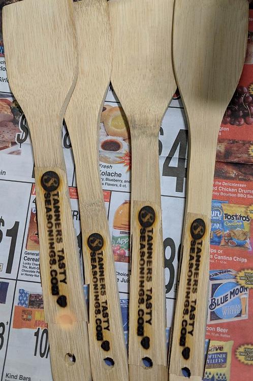 Branded bamboo spatula