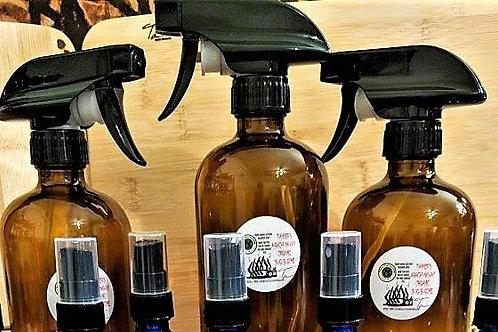 12 oz Amber glass spray bottle