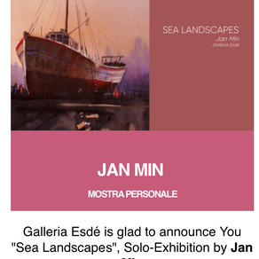 Jan Min solo expositie in Italië