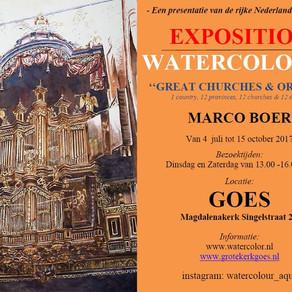 Orgel-aquarellen Marco Boer te bezichtigen