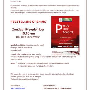 uitnodiging opening expositie IWS Holland
