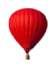 Red air balloon isolated on white with a
