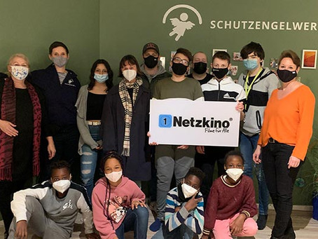 Netzkino donates 500 euros to the Schutzengelwerk in cooperation with Koch Films