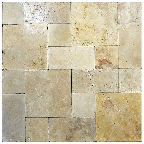 Country Classic Tumbled Roman Pattern Travertine Paver