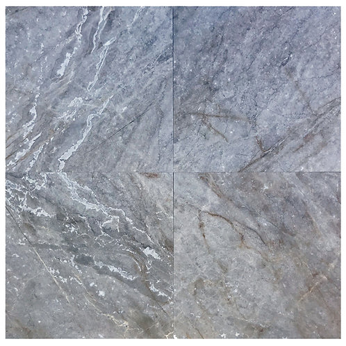 "Silver Antique Polished 24"" x  24"" Marble Tile"